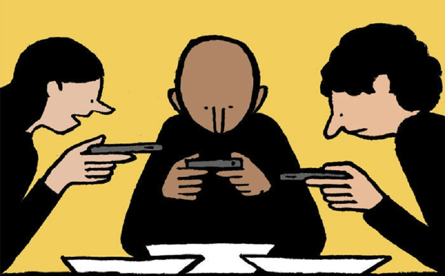 تصویرسازیهایی که اسارت آدمی در بند تکنولوژی را نمایش میدهند