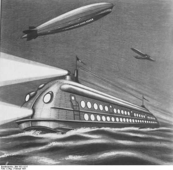 هواپیماهای کروز: پوستری که میبینید در سال 1930 طراحیشده و سبک زندگی در سال 2000 میلادی را به تصویر کشیده