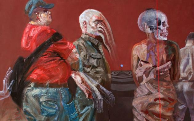 کابوس های جنگ سوریه در نقاشی های سارا شاما