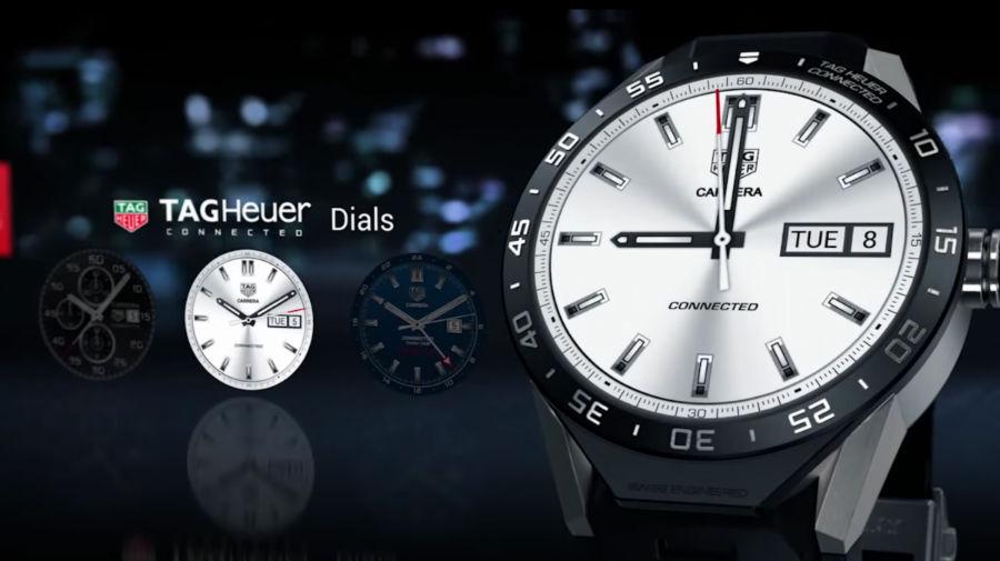 طراحی ظاهری «کانکتد» شبیه ساعت کلاسیک Tag Heuer Carrera است.