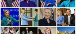 هیلاری کلینتون و لباس های رنگارنگش