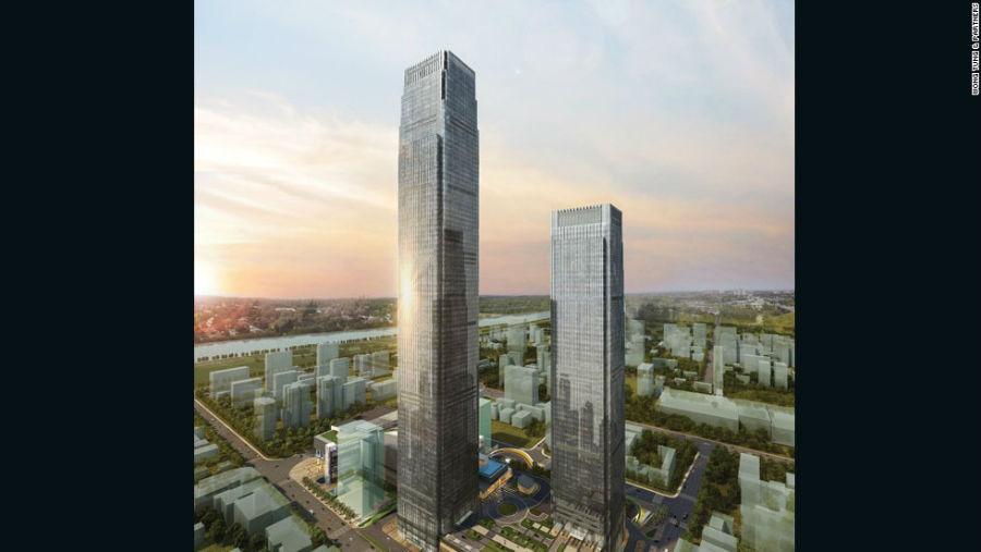 برج Changsha IFS مکان: Changsha - چین ارتفاع: 452 متر آرشیتکت: Wong Tung & Partners