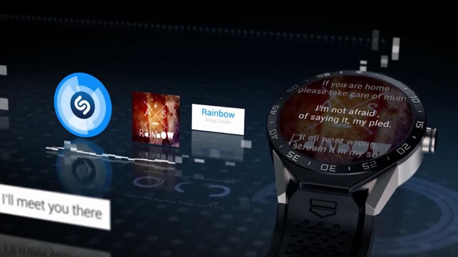 حتی میتوانید ترانه آهنگ را نیز روی نمایشگر ساعت ببینید.