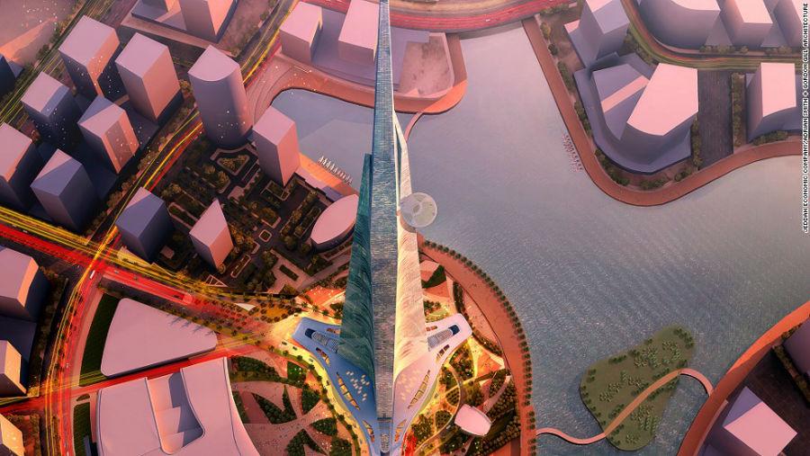 برج جده مکان: جده – عربستان سعودی ارتفاع: 1000 متر تعداد طبقات: 163 آرشیتکت: Adrian Smith + Gordon Gill