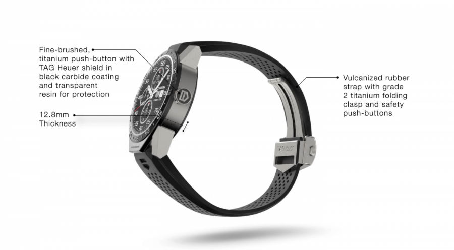 ساعت تگ هویر از اپل واچ ضخیمتر و 12.8 میلیمتر است اما کاربران اذعان داشتهاند که این دستگاه به نسبت اندازهای که دارد، سبک است.