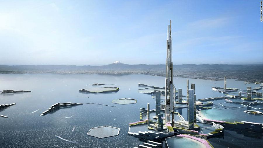 برج Sky Mlle مکان: توکیو - ژاپن ارتفاع: 1600 متر سال اتمام ساخت: 2045 میلادی