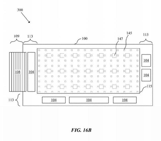 پنل های Micro-LED که قابلیت استفاده در دستبندها یا ساعتهای خمیده مورداستفاده قرار بگیرند شماره پتنت: 20160163765 مخترعین: Andreas Bibl, Hsin-Hua Hu سال فایل شدن ایده در اداره ثبت پتنت جهانی: دسامبر 2014