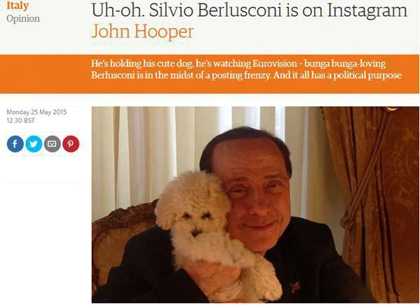 نخست وزیر جنجالی اسبق ایتالیا در قاب سلفی هایش
