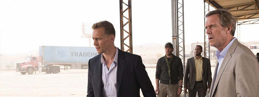 Tom Hiddleston as Jonathan Pine; Hugh Laurie as Richard Roper; group- The Night Manager _ Season 1, Episode 6- Photo Credit: Des Willie/AMC