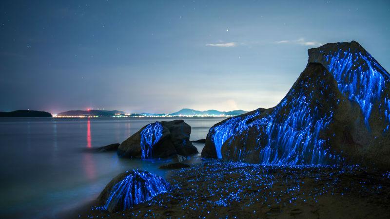 صخره های درخشان، یکی از زیباترین های طبیعت