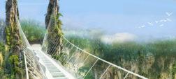 بزرگترین و مرتفع ترین پل شیشه ای دنیا در چین افتتاح شد