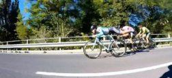 دوچرخه سواری که همانند سوپرمن از همه عبور کرد [تماشا کنید]