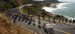 during the Men's Road Race on Day 1 of the Rio 2016 Olympic Games at the Fort Copacabana on August 6, 2016 in Rio de Janeiro, Brazil.