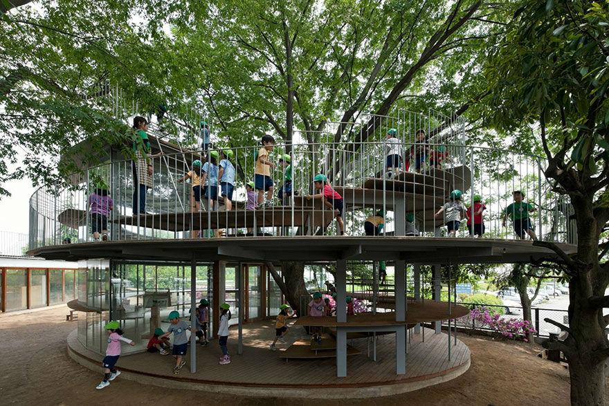 مهدکودک درختی در ژاپن