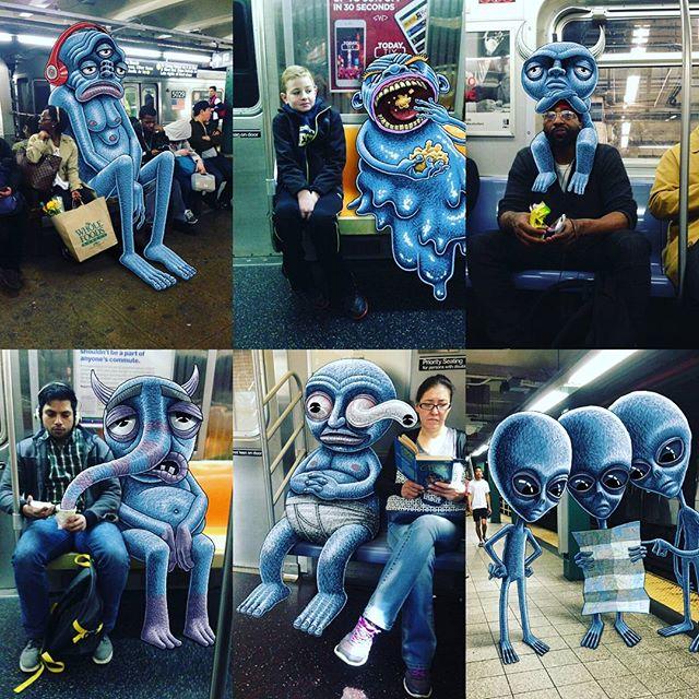 هم نشینی با هیولاها در مترو؛ مجموعه آثار هنری جالبی که توسط آیپد خلق شده اند