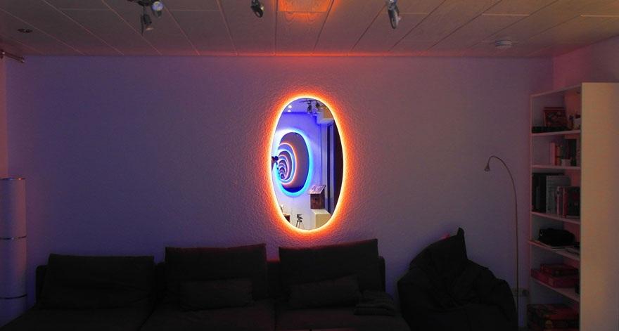 ساخت تصویری از بی نهایت در خانه با استفاده از آینه