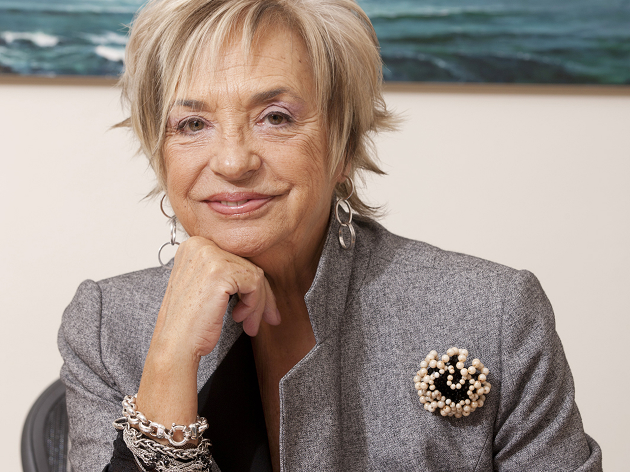 FILE - August 16, 2013: Rosalia Mera, co-founder of Spanish brand Zara, died yesterday aged 69 following a brain hemorrhage whilst on holiday in Menorca. Mera was thought to have been the world's richest self-made woman, with an estimated 4.57 billion net worth. A CORUNA, SPAIN - NOVEMBER 16, 2010: Rosalia Mera, founder of Zara with ex husband Amancio Ortega, poses for a portrait at the headquarters of the Paideia Foundation on November 16, 2010 in A Coruna, Spain. (Photo by Xurxo Lobato/Getty Images)