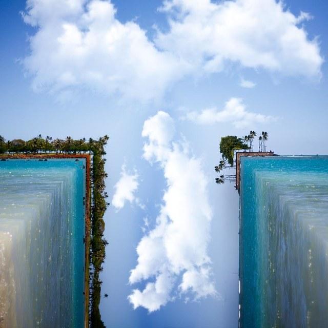 وقتی آب های فیروزه ای با جزیره های کوچک و بزرگ به موازات یکدیگر قرار می گیرند