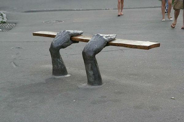 صندلی های شهر کیِف اوکراین
