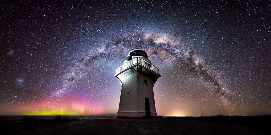 عکس های بی نظیر از شب های زمستانی نیوزیلند