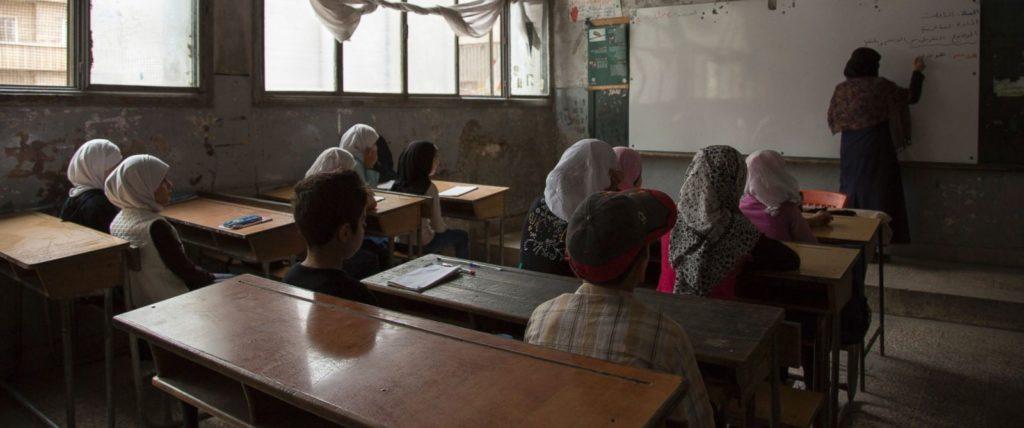 شروع سال تحصیلی در مدرسه ای در شرق آلپوی سوریه