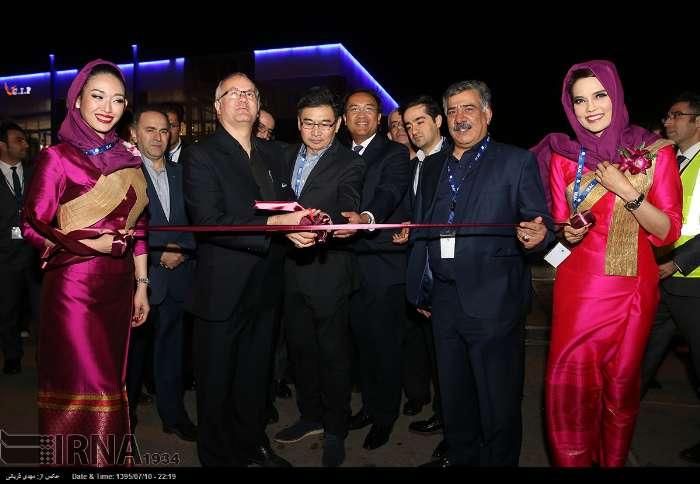 هواپیمایی ملی تایلند نخستین پرواز خود را در مسیر بانکوک-تهران انجام داد
