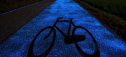 مسیرهای دوچرخه سواری درخشان که با نور خورشید شارژ می شوند
