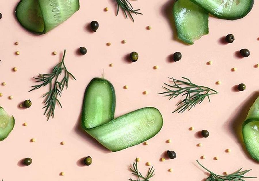 صفحه ای در اینستاگرام که با غذا طرح های بصری زیبا ساخته