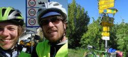زوج آلمانیِ جهانگرد در سفر خود با دوچرخه به ایران