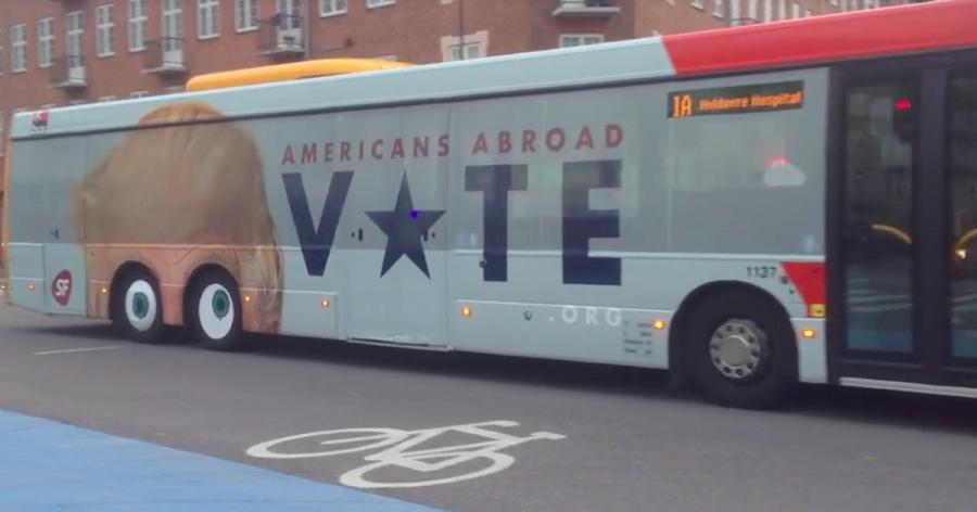 دانمارک و تبلیغات خلاقانه علیه دونالد ترامپ روی اتوبوس ها [تماشا کنید]