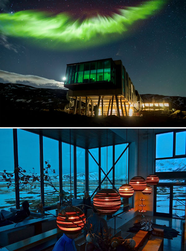 هتل «Ion» ایسلند، منظره ای شگفت انگیز از شفق قطبی را برای شما به ارمغان می آورد