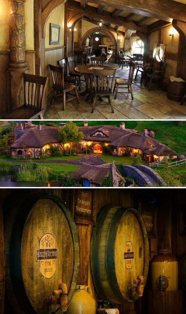 رستوران «اژدهای سبز» کشور نیوزلند، شما را وارد دنیای هابیت ها کرده و محیط مناسبی برای خوردن و نوشیدن فراهم می آورد