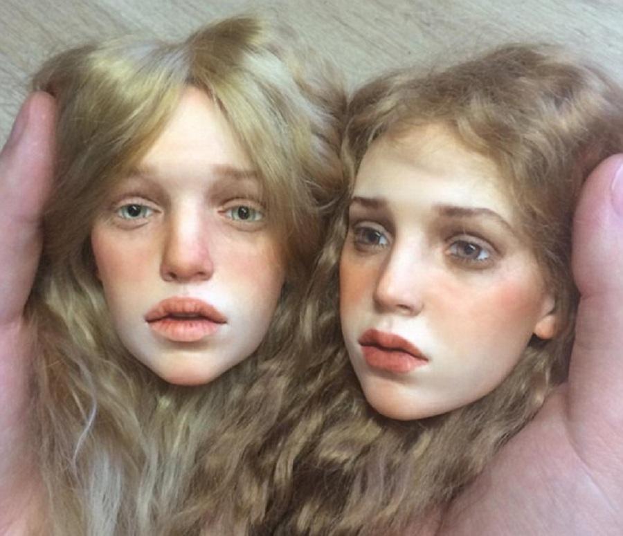 یک هنرمند روسی عروسک هایی می سازد که با واقعیت مو نمی زنند [تماشا کنید]