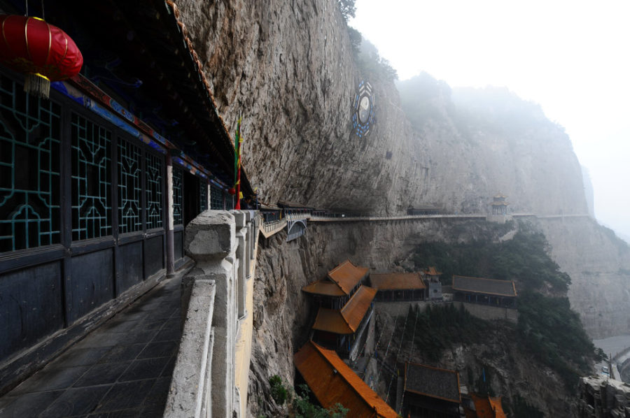 Mianshan scenic area consists of series of temples (mainly Taoist) constructed on these cliffs over time.