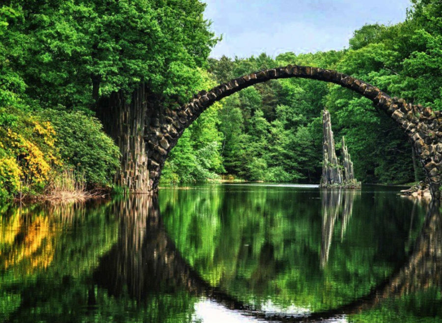 پل Rakotzbrücke، آلمان