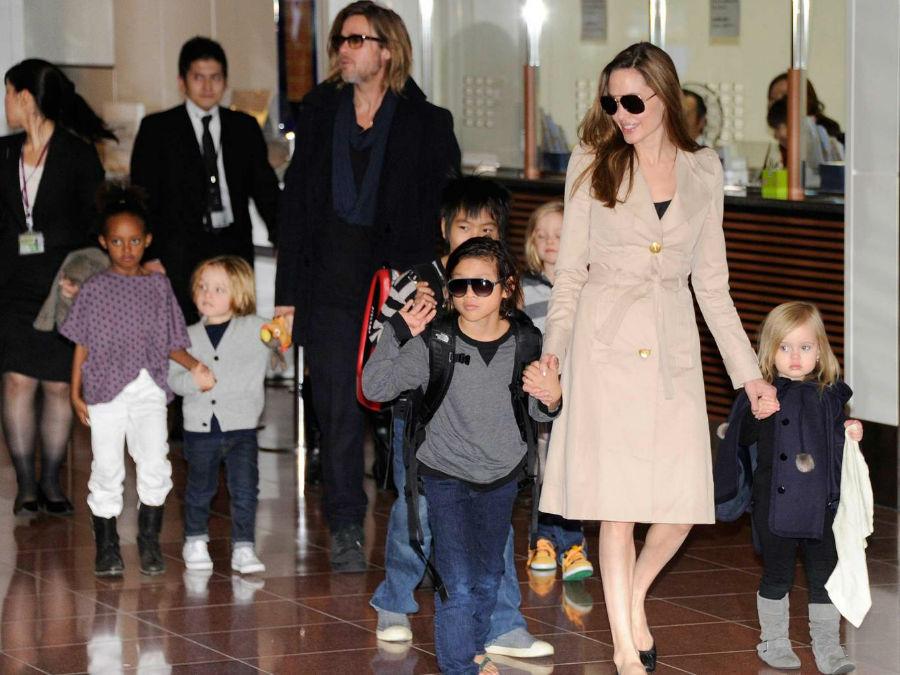 برد پیت خواستار حق حضانت هر ۶ فرزند خود شد