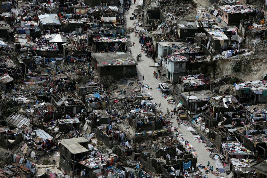 آواره گی مردم پس از طوفان متیو در هایتی - 6 اکتبر