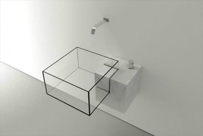 سینک مکعب مربعی