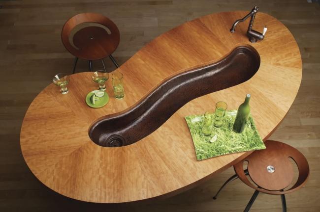 سینک ظرفشوئی به شکل میز غذاخوری