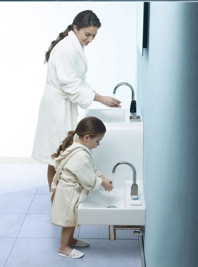 سینک روشوئی قد کوتاه برای کودکان