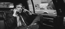 Donald Trump on the phone in his car after announcing plans for development of the west side of midtown Manhattan at the Hyatt Hotel on 42nd Street and Lexington Avenue, in New York, on Nov. 18, 1985.