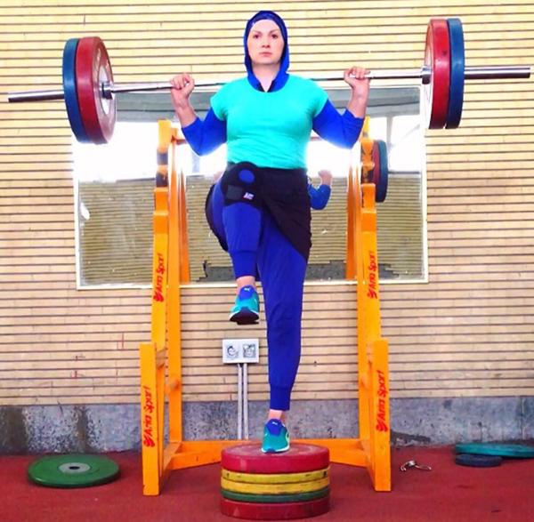 گزارش روزیاتو از تمرینات بدنسازی بانوی پرتاب وزنه ایران