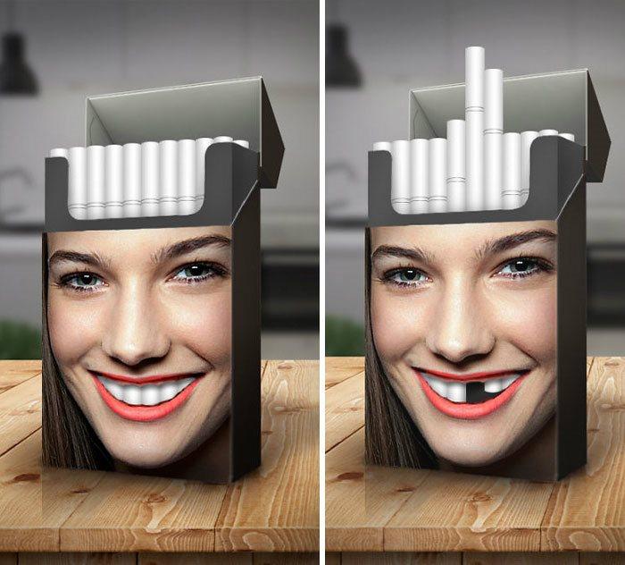 14 نمونه از تاثیر گذارترین تبلیغاتی که علیه سیگار کشیدن انجام شده است - روزیاتو