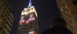 تایم لپسی جالب از به نمایش درآمدن نتایج انتخابات ریاست جمهوری آمریکا بر روی ساختمان امپایر استیت شهر نیویورک [تماشا کنید]