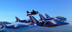 پرواز تماشایی سه جت من در کنار هشت هواپیمای نیروی هوایی فرانسه [تماشا کنید]