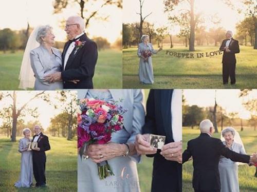 با زوجی آشنا شوید که پس از ۷۰ سال زندگی مشترک اقدام به گرفتن عکس عروسی کرده اند