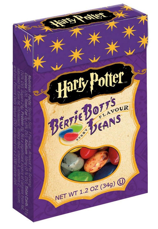 دانه های برتی بات شکلات های پاستیلی با طعم های عجیبی همانند استفراغ که در هری پاتر وجود داشت، اکنون در دنیای واقعی نیز وجود دارد.