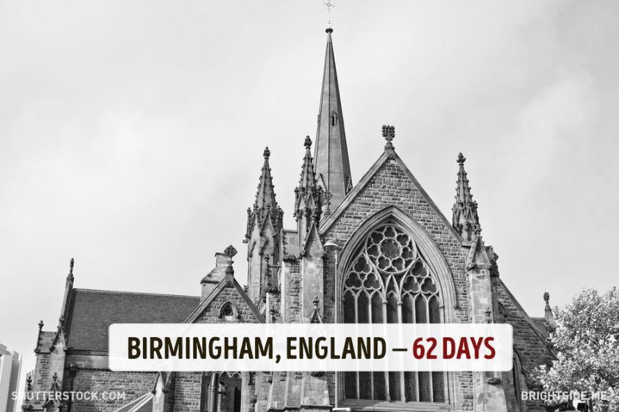 بیرمنگام - انگلیس - 62 روز