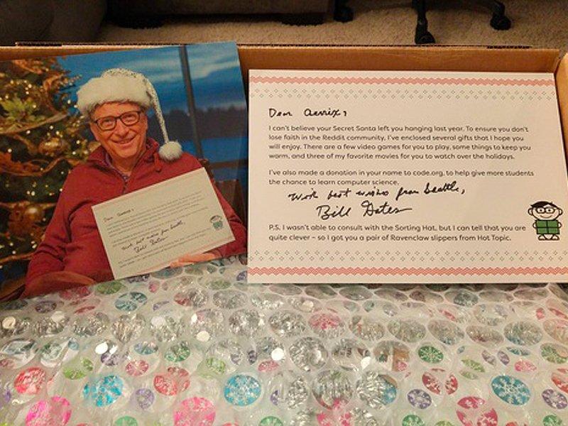 نامه و عکس بیل گیتس به عنوان بابانوئل