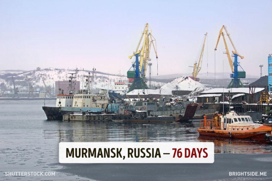 بندر مورمانسک - روسیه - 76 روز